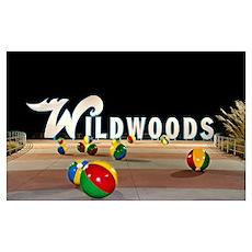 Wildwoods Sign in Wildwood, New Jersey Poster