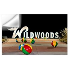 Wildwoods Sign in Wildwood, New Jersey Wall Decal