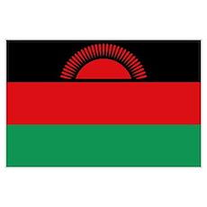 Malawaiana flag Poster