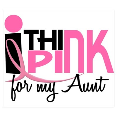 I Think Pink For My Aunt 1 Canvas Art
