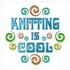 Knitting is Cool Poster
