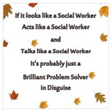 Social worker Wrapped Canvas Art