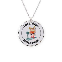 I am in shape! Necklace Circle Charm