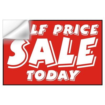 1/2 price SALE today Wall Decal