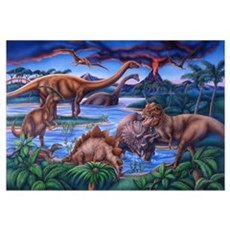 Large Dinosaurs Canvas Art