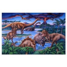 Large Dinosaurs Poster