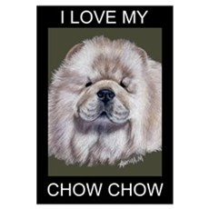 Cream Chow Chow Canvas Art