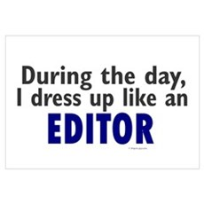 Dress Up Like An Editor Framed Print