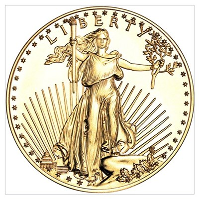 The Liberty Gold Coin Poster