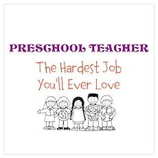 Preschool Teacher Poster