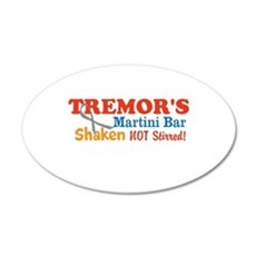 Parkinson's Tremor's Bar 22x14 Oval Wall Peel