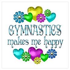 Gymnastics Happiness Poster