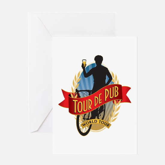 Tour de Pub Greeting Card