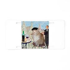 Le Cat du Cafe Aluminum License Plate