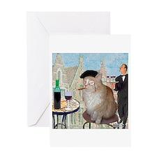 Le Cat du Cafe Greeting Card