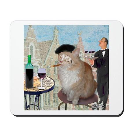 Le Cat du Cafe Mousepad
