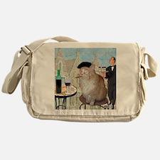 Le Cat du Cafe Messenger Bag