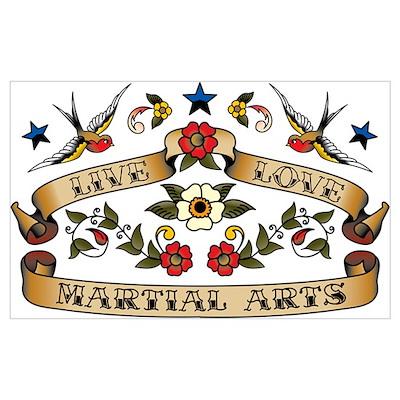 Live Love Martial Arts Poster