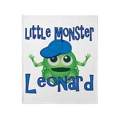 Little Monster Leonard Throw Blanket