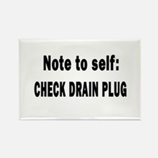 Note to Self... Check Drain P Rectangle Magnet