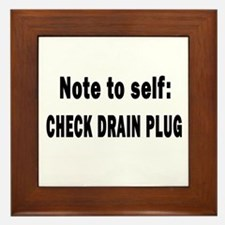 Note to Self... Check Drain P Framed Tile