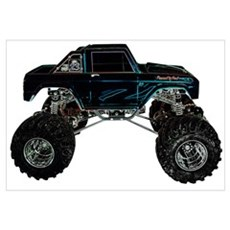 Monster Truck - Sideways Canvas Art