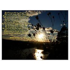 Shakespeare's Sonnet 18 Poster