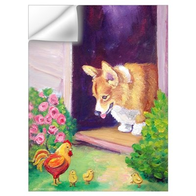 Pembroke Welsh Corgi Art Prin Wall Decal
