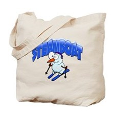Steamboat Snowman Skier Tote Bag