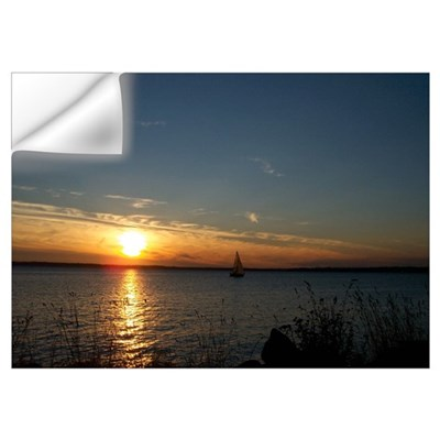 Sunset Over Lummi Island Wall Decal