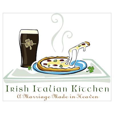 Irish Italian Kitchen Poster