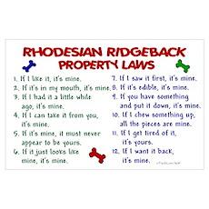 Rhodesian Ridgeback Property Laws 2 P Poster
