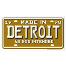 Made in Detroit Canvas Art