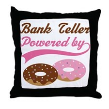 Bank Teller Gift Doughnuts Throw Pillow