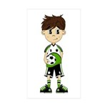 Cute Soccer Boy Sticker (50 Pk)