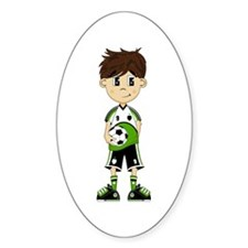 Cute Soccer Boy Sticker