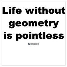 Life without geometry Poster