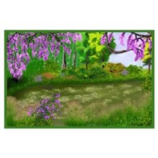 Upside Down Flowers Poster