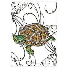 Gem Turtle Poster