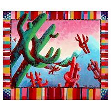 'Dancing Saguaros' Poster