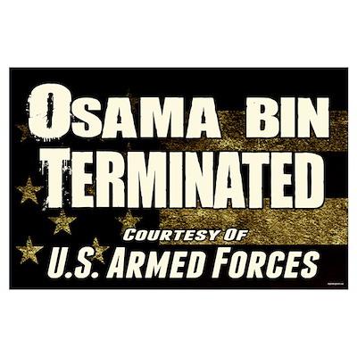 Osama Bin Terminated Poster