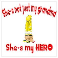 Not just my grandma (hearts) Poster