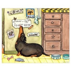 Weighty Weiner Dog Canvas Art