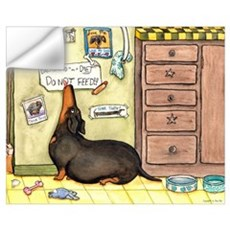 Weighty Weiner Dog Wall Decal