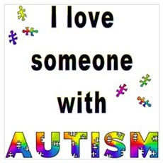 I Love Someone With Autism! Framed Print