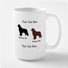 1 Black & 1 Brown Newf Mug