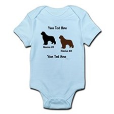 1 Black & 1 Brown Newf Onesie
