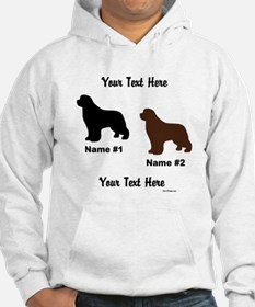 1 Black & 1 Brown Newf Jumper Hoody