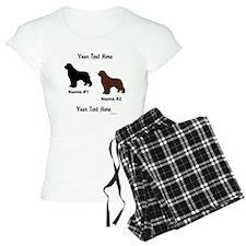1 Black & 1 Brown Newf Pajamas