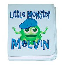Little Monster Melvin baby blanket